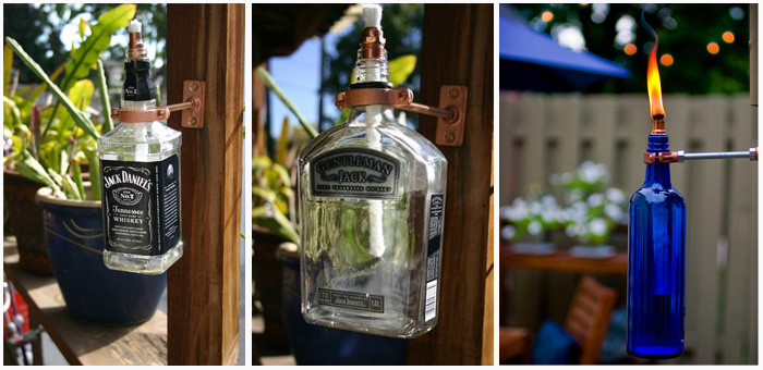 What to do with empty whisky bottles