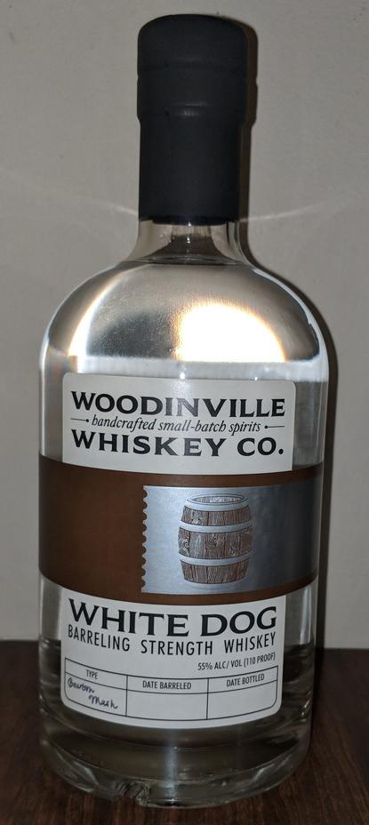 Woodinville White Dog Whiskey 110 proof
