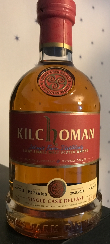 Kilchoman 2011 Single Cask Release, cask #448