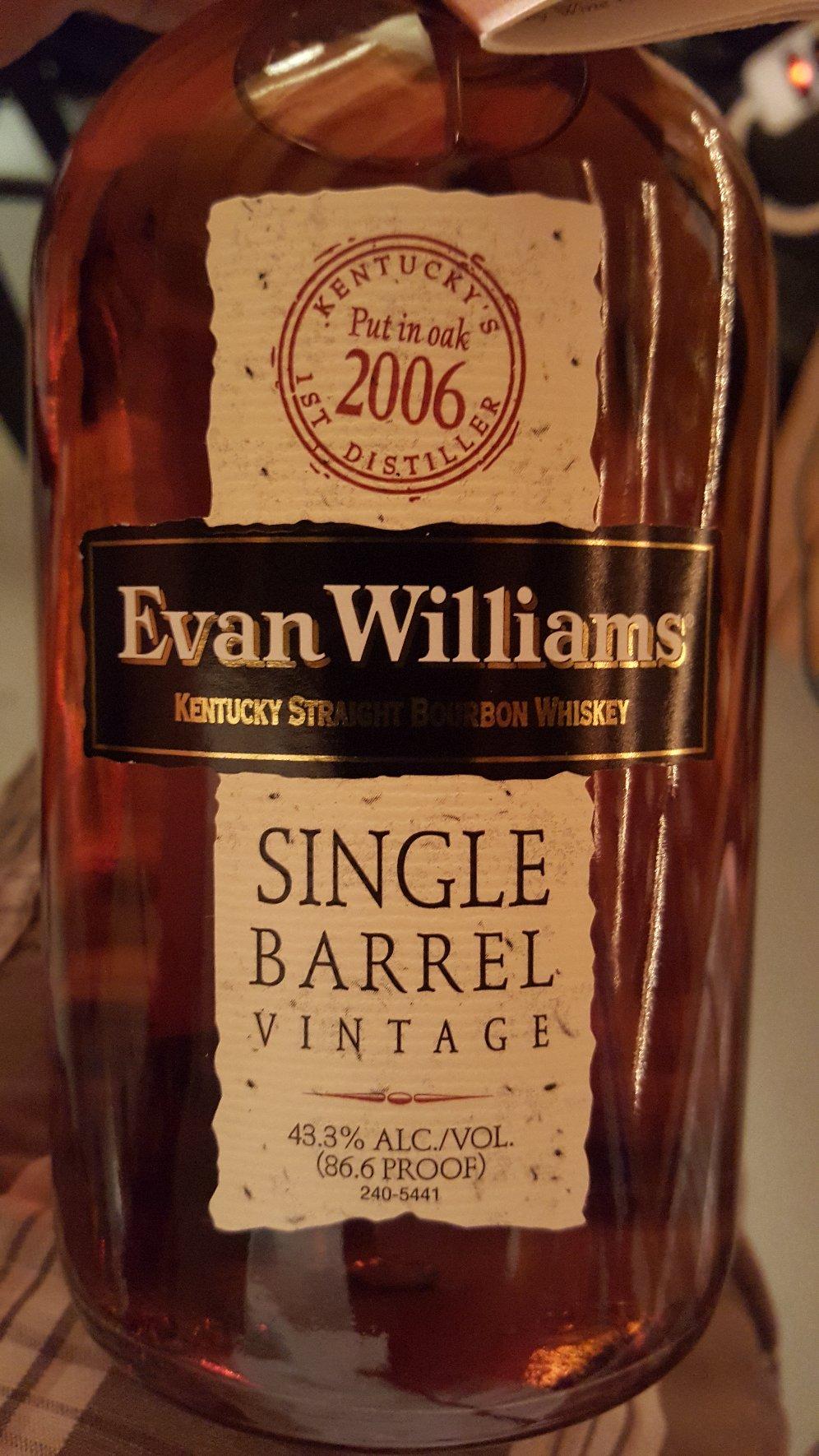 Evan Williams Single Barrel 2006
