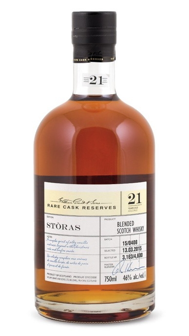 William Grant Rare Cask Reserves Stòras 21 Year Old