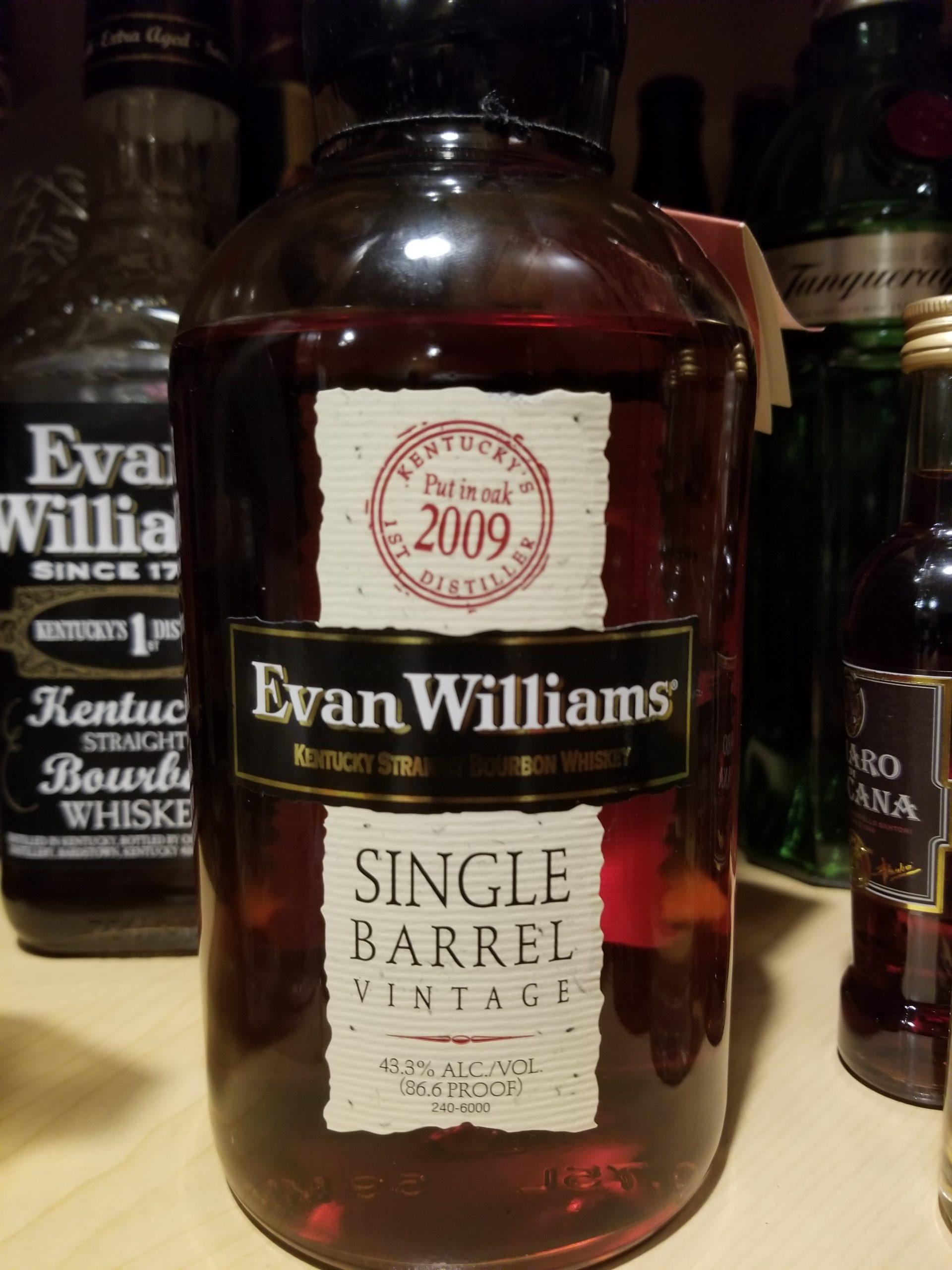 Evan Williams Single Barrel 2009
