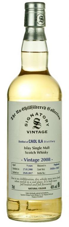Caol Ila 2008 (Signatory Un-Chillfiltered)