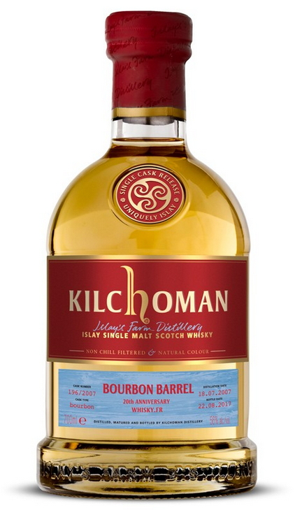 Kilchoman 2007 Single cask Release, cask #196