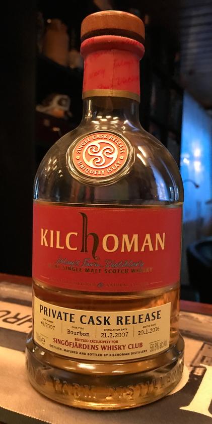 Kilchoman 2007 Private cask Release, cask #49