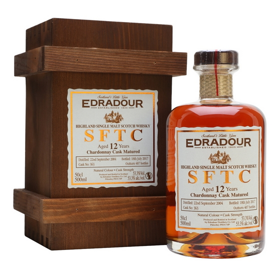 Edradour Straight from the Cask Chardonnay (2003)