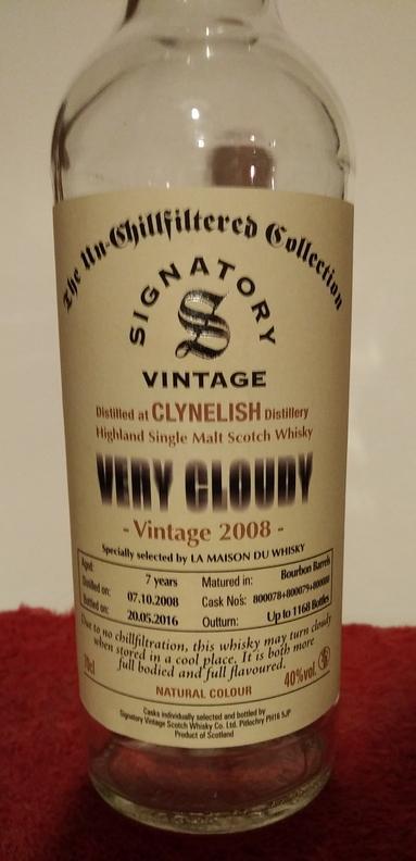 Clynelish 2008 (Signatory Very Cloudy)