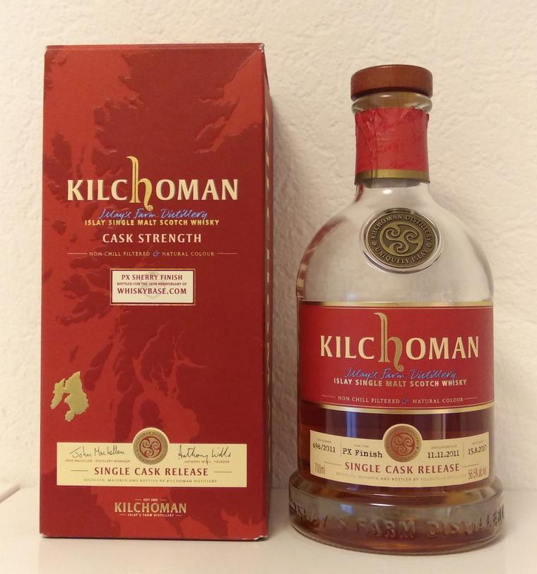 Kilchoman 2011 Single Cask Release, cask #696